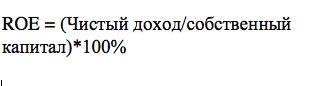 Рентабельность собственного капитала. Формула